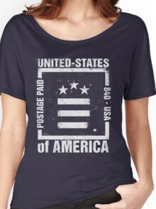 Postage Paid USA Women's Relaxed Fit T-Shirt