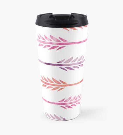Pink and Purple Watercolor Arrows Pattern Travel Mug