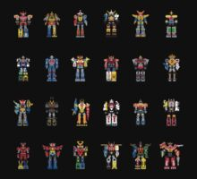 A History of Megazords One Piece - Short Sleeve