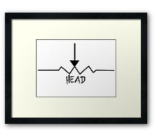 "Potentiometer ""Pot"" Head Framed Print"