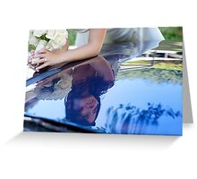 bride reflected Greeting Card