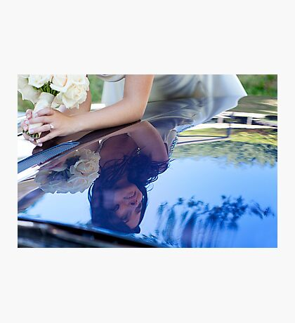 bride reflected Photographic Print