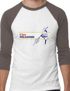 I love Polearms Men's Baseball ¾ T-Shirt