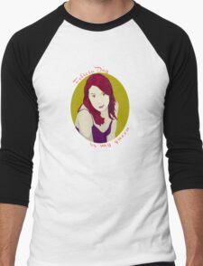 Felicia Day is My Queen Men's Baseball ¾ T-Shirt