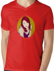 Felicia Day is My Queen Mens V-Neck T-Shirt