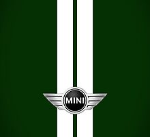 Mini Cooper Strips - British Racing Green by mrmini
