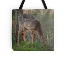 Wild Deer Eats Dinner Tote Bag