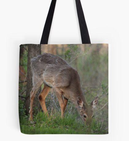 Wild Deer Eats Dinner Tote Bag