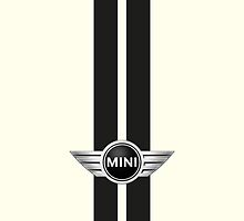 Mini Cooper Strips - Pepper White by mrmini