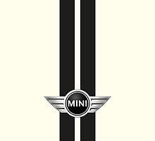 Mini Cooper Strips - Pepper White by mrmini