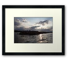 South Shore Clouds  Framed Print