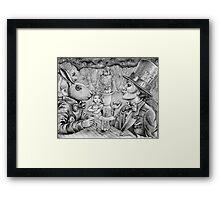 a mad tea party Framed Print