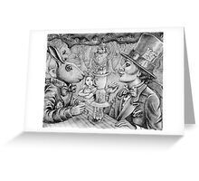 a mad tea party Greeting Card
