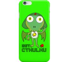 Sergeant Cthulhu (English version) iPhone Case/Skin