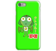 Sergeant Cthulhu (Japanese version) iPhone Case/Skin