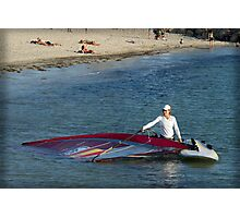 Spanish Sailboarder at Bathers Beach Fremantle Photographic Print
