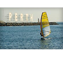 Sailboarding at Bathers Beach Photographic Print