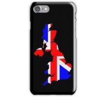 United Kingdom Flag and Map iPhone Case/Skin