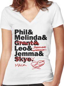 We are Agents of S.H.I.E.L.D. Season 2 Women's Fitted V-Neck T-Shirt