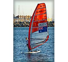 Australian Sailboarder at Bathers Beach Photographic Print