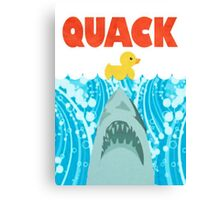 Quack Duck Parody Canvas Print