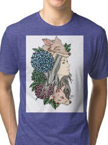 Mother Nature Series by Dk Art Tri-blend T-Shirt