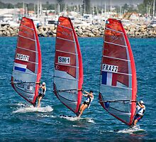 Sailboarders at Bathers Beach by Darren Speedie