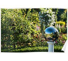 Mirror Ball, Butchart Gardens Poster