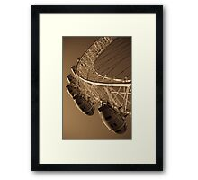 London Eye Abstract View Antique Effect Image Framed Print