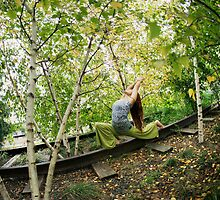 Yoga at the High Line Park, New York by Wari Om  Yoga Photography