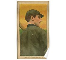 Benjamin K Edwards Collection Wildfire Schulte Chicago Cubs baseball card portrait 002 Poster