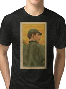 Benjamin K Edwards Collection Wildfire Schulte Chicago Cubs baseball card portrait 002 Tri-blend T-Shirt