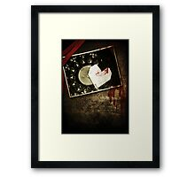 Murder with a Kiss Framed Print