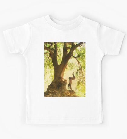 Handstand by the tree tshirt Kids Tee
