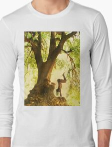 Handstand by the tree tshirt Long Sleeve T-Shirt