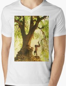 Handstand by the tree tshirt Mens V-Neck T-Shirt