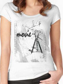 movie film Women's Fitted Scoop T-Shirt