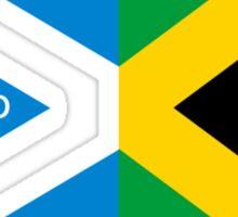 Scotland Yard jamaica flag kingston funny parody Sticker