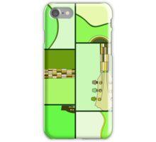 Modern Pop Art Acoustic Guitar in Greens iPhone Case/Skin