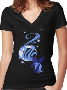 Moon Shade Women's Fitted V-Neck T-Shirt