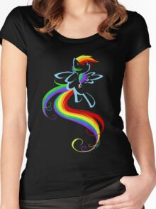 Flowing Rainbow Women's Fitted Scoop T-Shirt