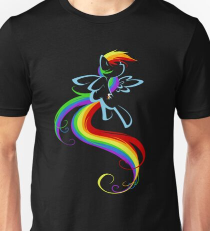 Flowing Rainbow Unisex T-Shirt