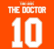 Team Tennant (The Doctor Team Jersey #10) Kids Tee