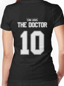 Team Tennant (The Doctor Team Jersey #10) Women's Fitted V-Neck T-Shirt