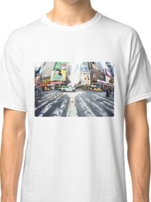 Yoga in Times Square, New York Classic T-Shirt