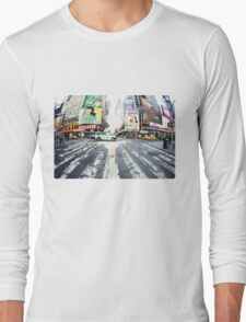 Yoga in Times Square, New York Long Sleeve T-Shirt