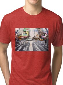 Yoga in Times Square, New York Tri-blend T-Shirt