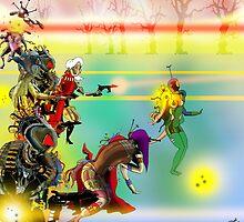 Laser Battle! by Grant Wilson