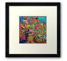 Abstract Acrylic and Digital Framed Print