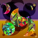 Digital Moons Abstract by Grant Wilson